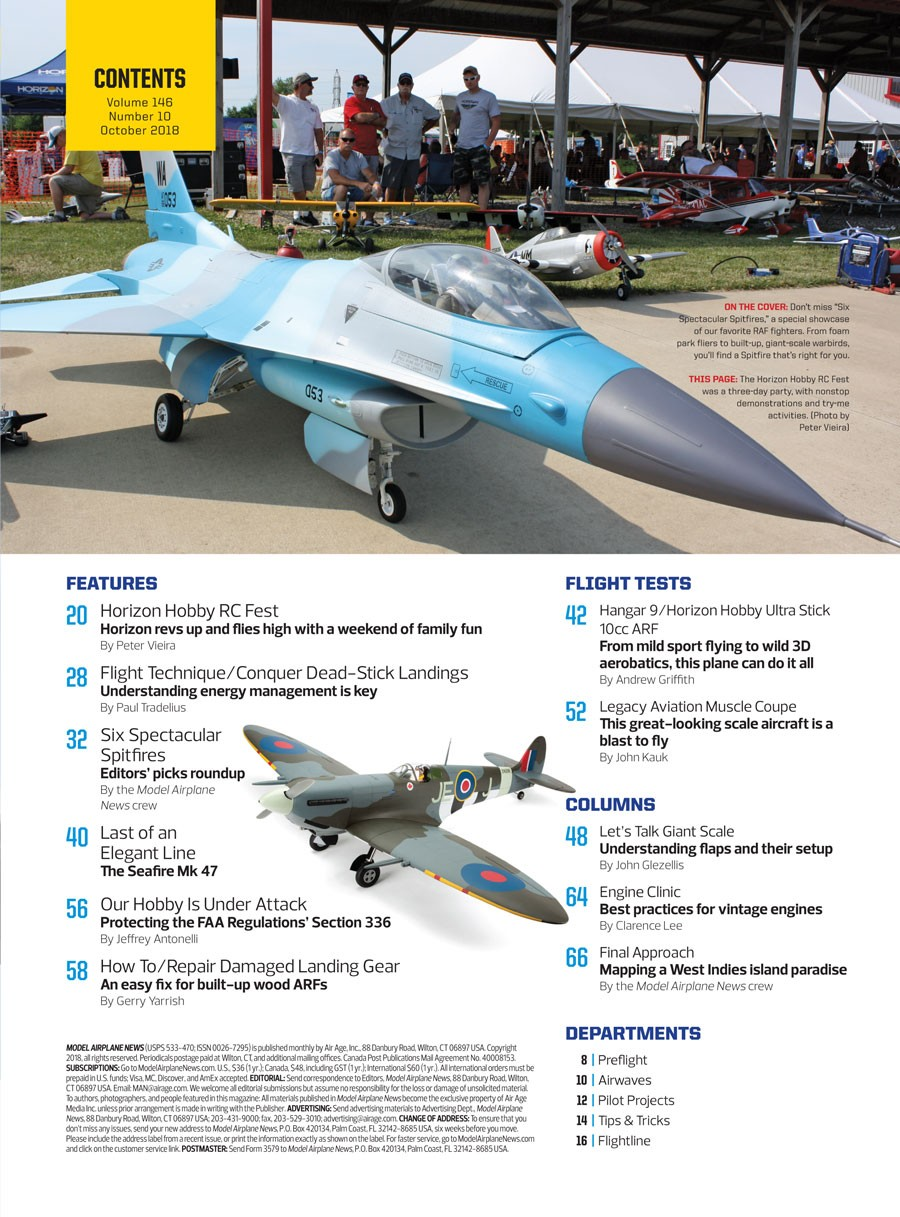 Model Airplane News October 2018 - RC Planes - Back-Issues