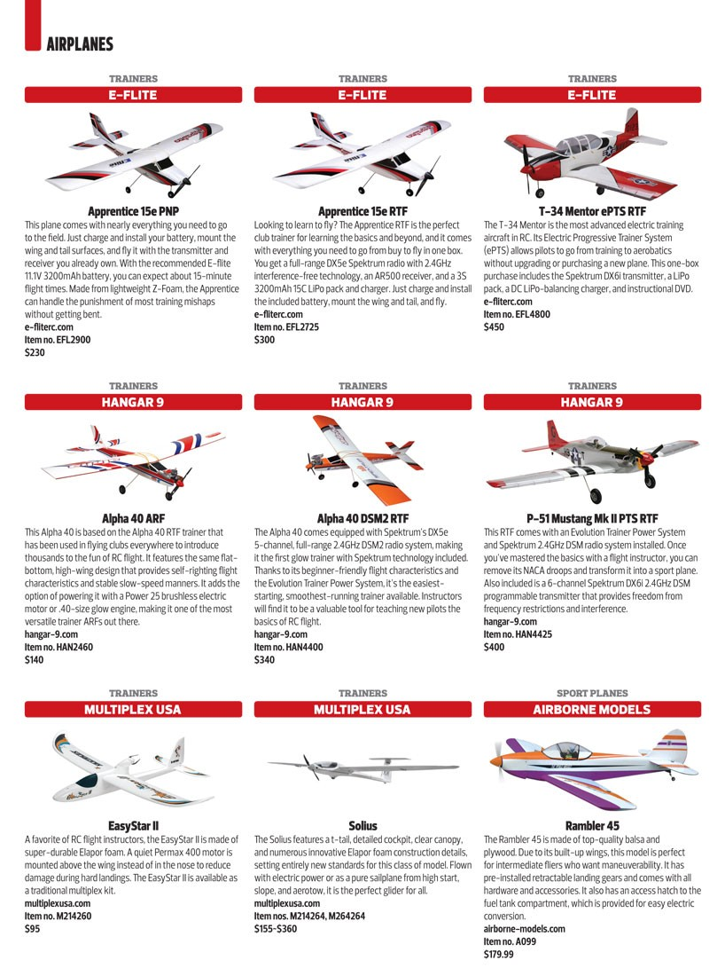 Model Airplane News Buyer's Guide 2013 - RC Planes - Back-Issues