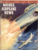 Model Airplane News Vintage Cover Poster - November 1952