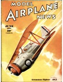 Model Airplane News Vintage Cover Poster - June 1935