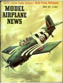 Model Airplane News Vintage Cover Poster - August 1955