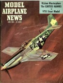 Model Airplane News Vintage Cover Poster - June 1955