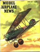 Model Airplane News Vintage Cover Poster - January 1956