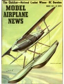 Model Airplane News Vintage Cover Poster - March 1957